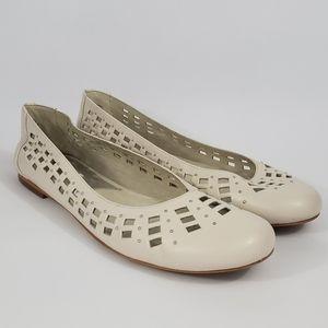 Michael Kors Cream Beaded/Woven Flats Size 9